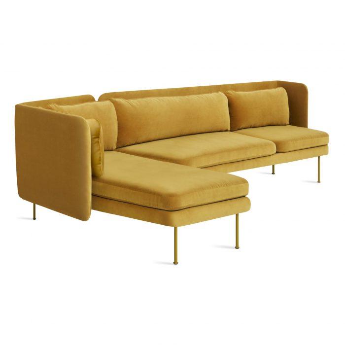 bl1 larmch oc 34high bloke sofa left chaise ochre velvet