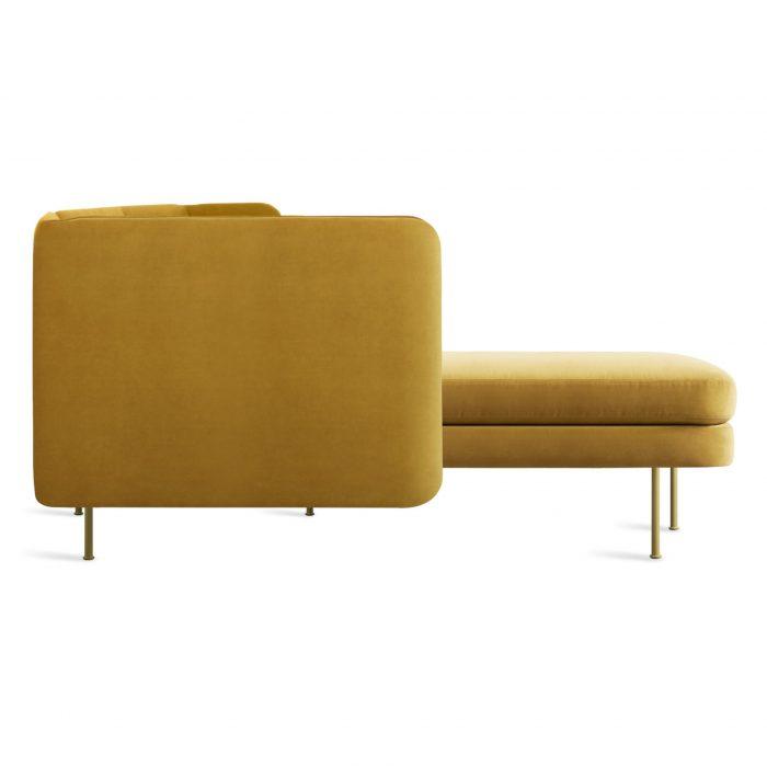 bl1 larmch oc side bloke sofa left chaise ochre velvet