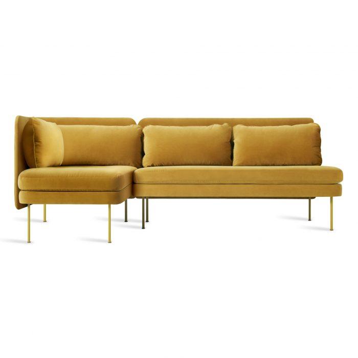 bl1 lchnam oc bloke armless sofa left chaise ochre velvet