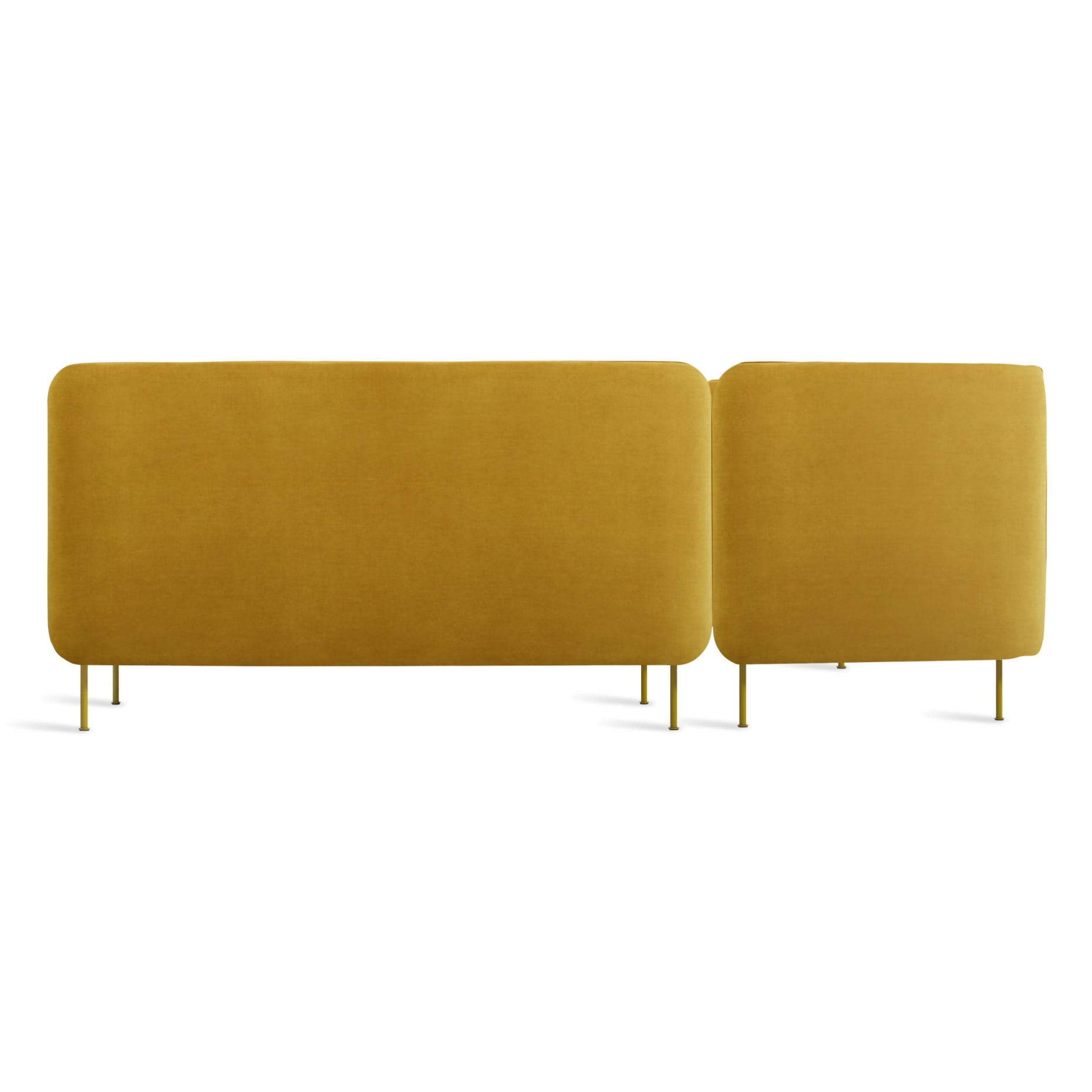 bl1 lchnam oc back bloke armless sofa left chaise ochre velvet