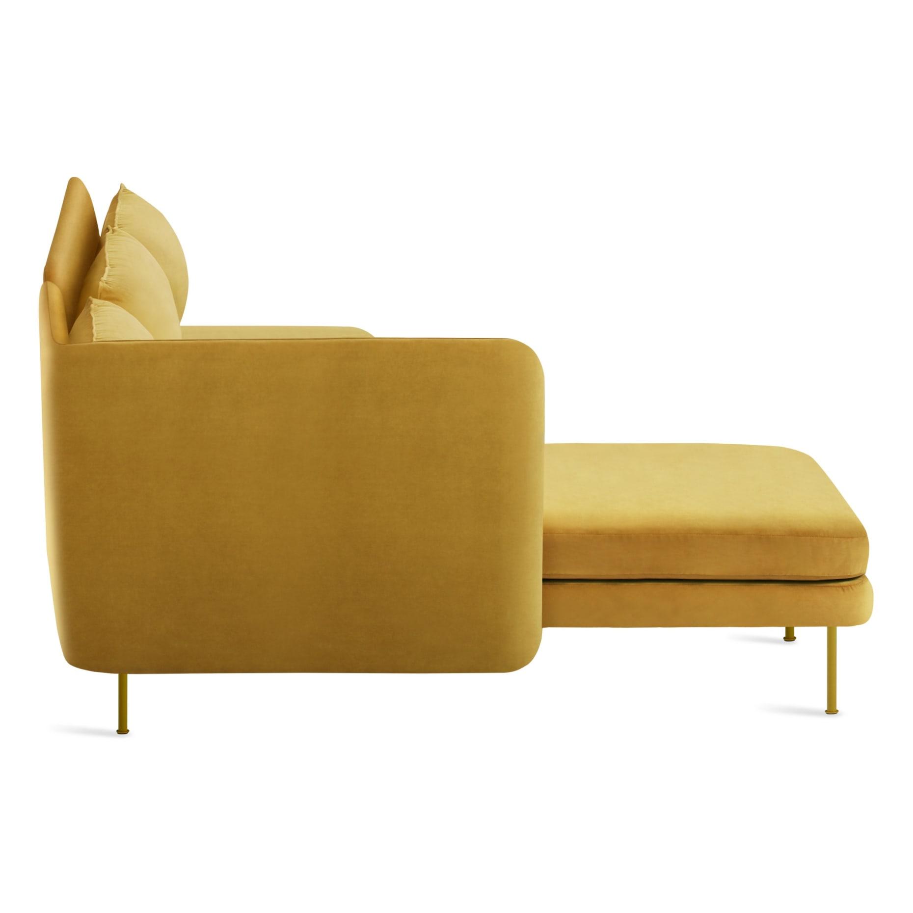 bl1 lchnam oc sidehigh bloke armless sofa left chaise ochre velvet