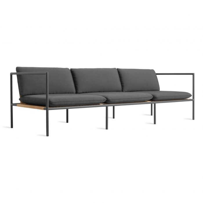 dg1 3stsfa cl 34frontlow dog days outdoor 3 seat sofa sunbrella coal black