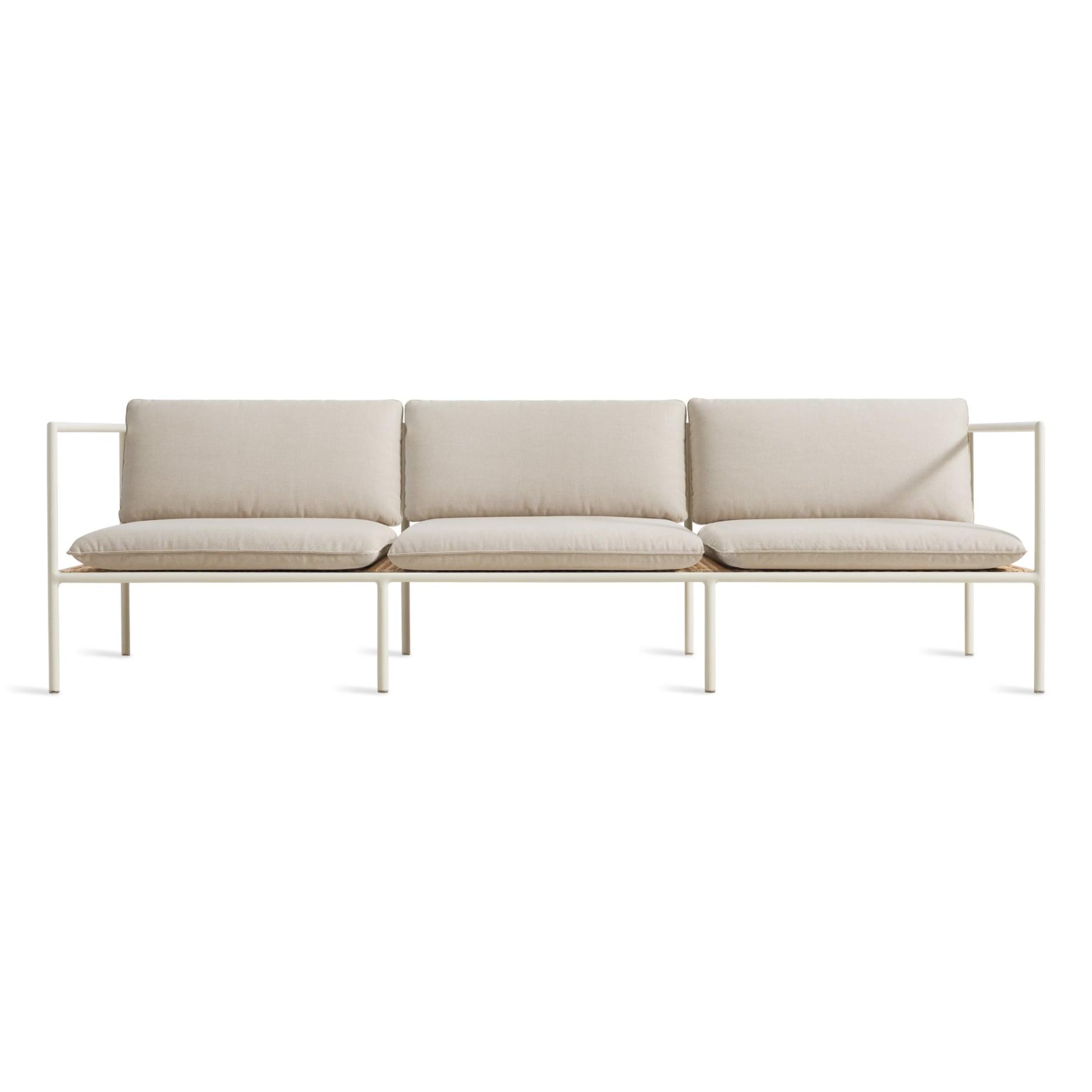dg1 3stsfa ln frontlow dog days outdoor 3 seat sofa sunbrella linen white