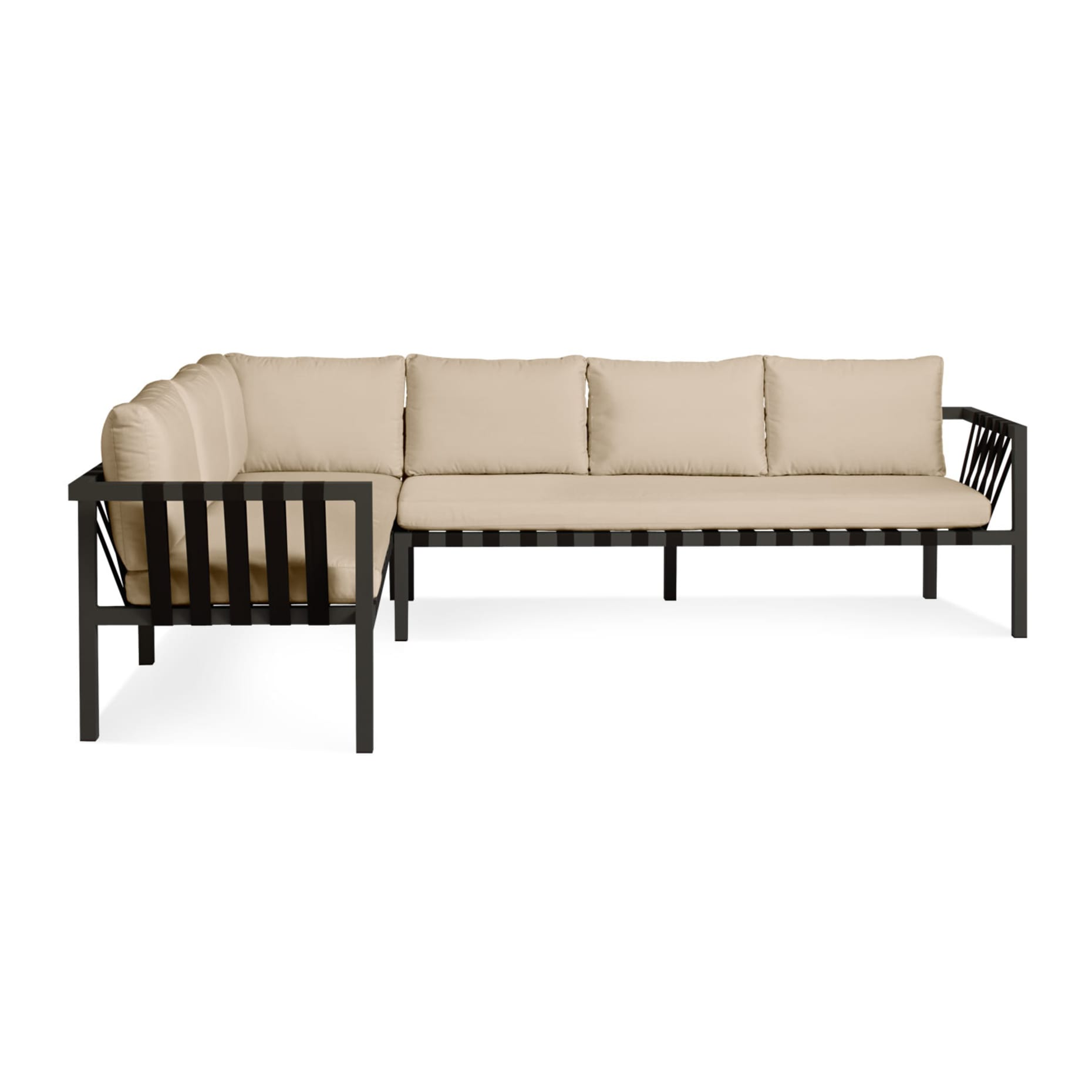 ji1 xllfsc cb jibe extra large left sectional carbon sunbrella taupe