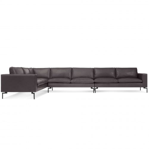 ns1 secbkd br new standard sectional sofa large dark brown leather
