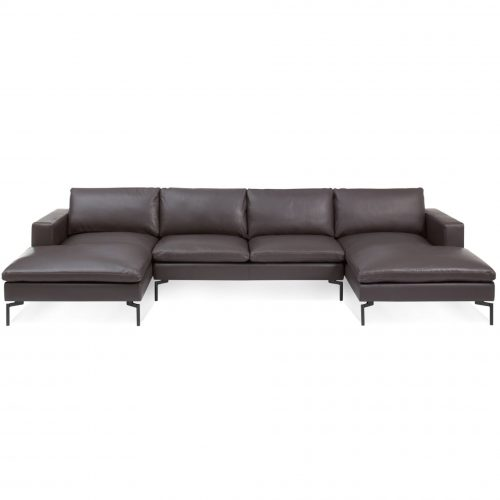 ns1 usecbk br high new standard u shaped sectional dark brown leather 2