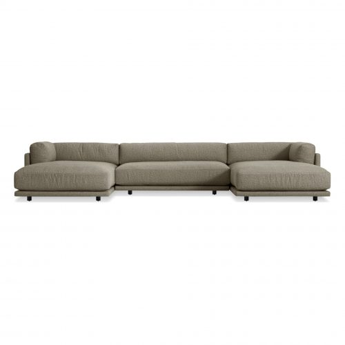 sn1 usecbk bk frontlow sunday u shaped sectional sanford black 1