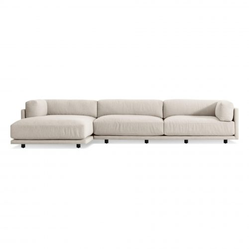 sn1 rseclc ln frontlow sunday sofa with left chaise sanford linen