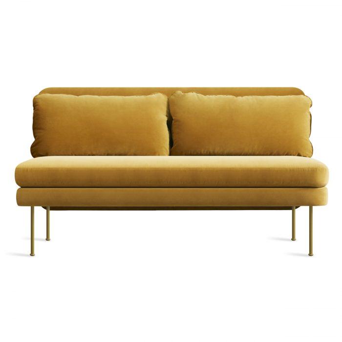 bl1 narmsf oc bloke armless sofa velvet ochre